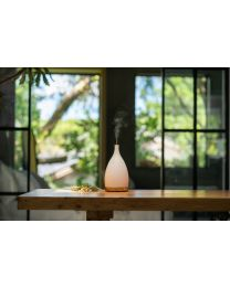 ultrasonic diffuser 125mm- corona white w/lightwood base