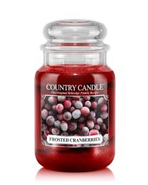 2-Wick L Jar-Frosted Cranberries
