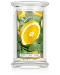 2-Wick L Jar Classic-Citrus and Sage