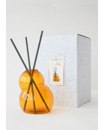 pre-scented reed diffuser- bubble amber set w/cedre d'orient