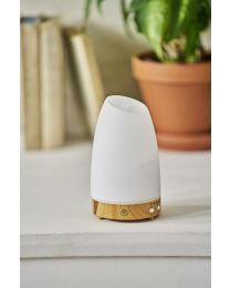 ultrasonic diffuser 90mm- astro white w/lightwood base