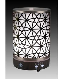 Aroma diffuser  90mm- nexus silver dark wood base
