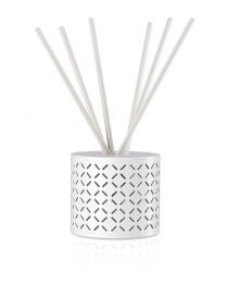 pre-scented reed diffuser- rain white set w/floating transpa