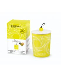 refillable scented decorative candle terre d'agrumes