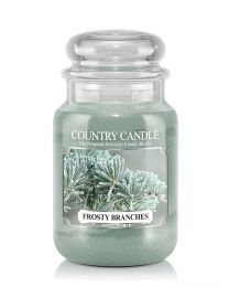 2-Wick L Jar-Frosty Branches