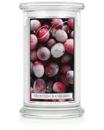 2-Wick L Jar Classic-Frosted Cranberry