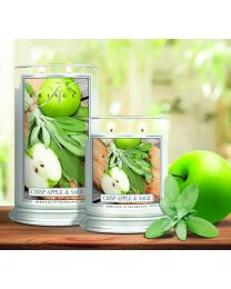 2-Wick L Jar Classic-Crisp Apple & Sage