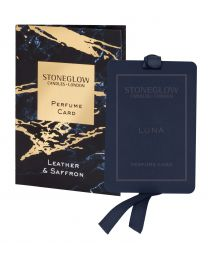 Luna - Leather & Saffron - Perfume Card