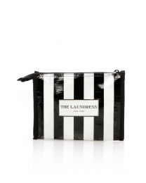 Black & White Striped Pouch